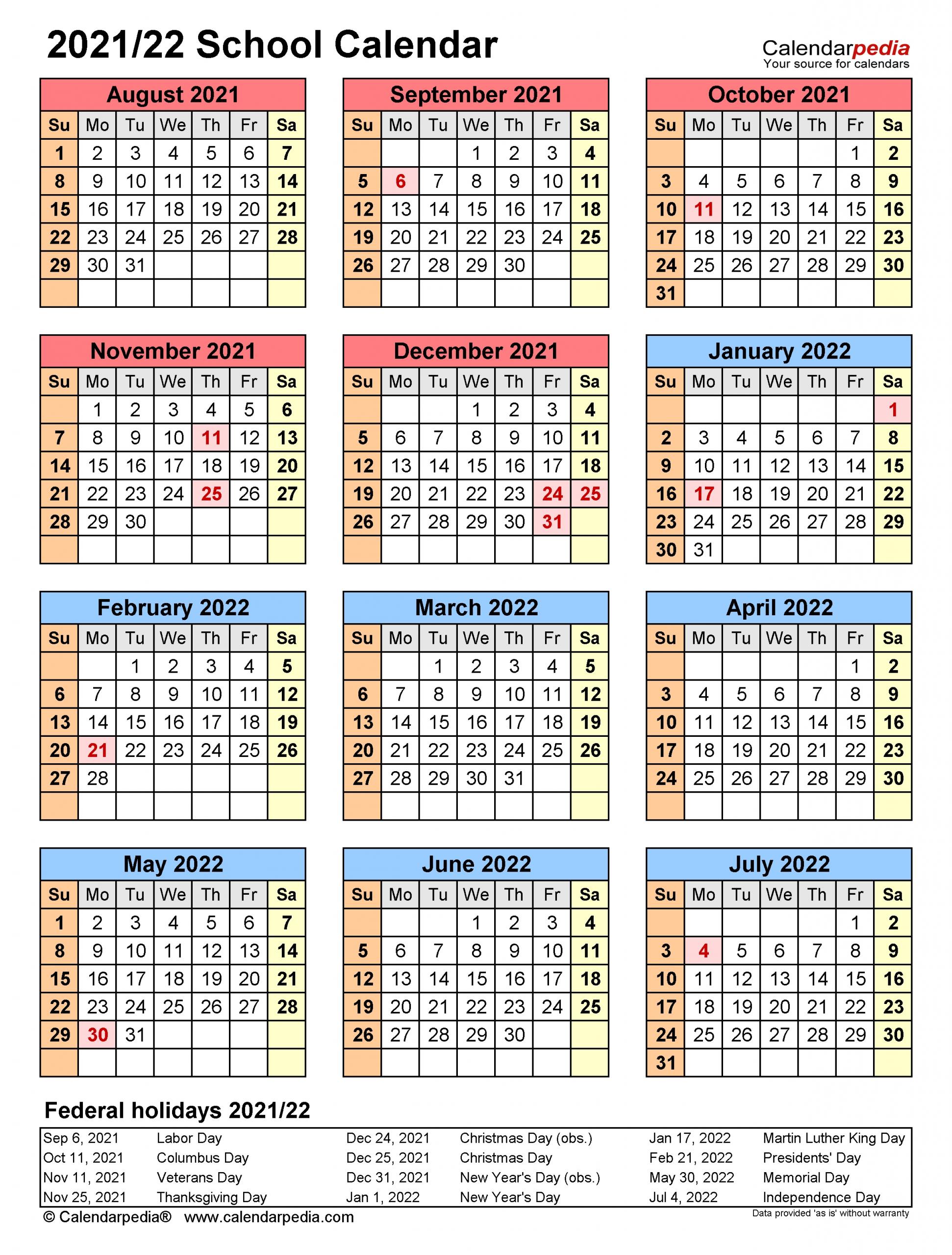 Fall 2022 Academic Calendar.Printable 2021 2022 School Calendar In 2021 School Calendar Calendar Template Calendar