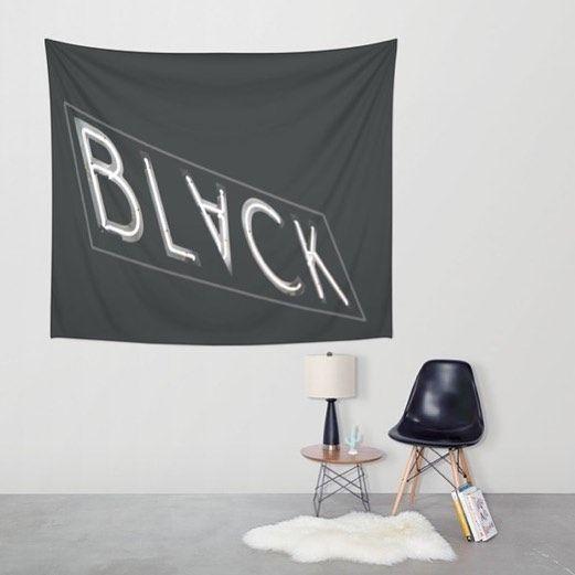 #black #neonlights #neonsign #blackandwhite #blackandwhitephotography #homedecor #buyart #buyblack #tapestry #home #rug #blackchair #whitewall #white #concrete