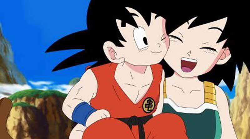 Goku y su madre Gine   Dragones, Goku niño, Dragon ball