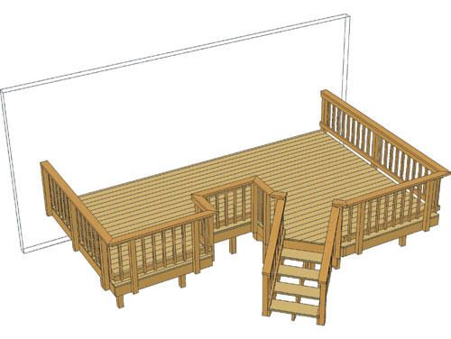 Best 20 X 13 Deck W Angled Stairs At Menards Deck Outdoor 400 x 300