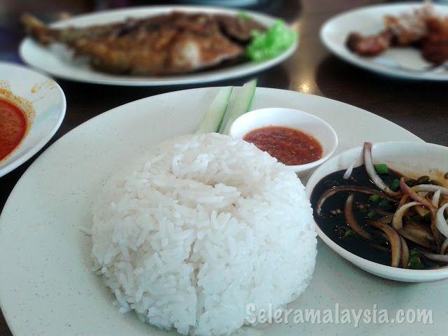 Nasi Ikan Bawal Goreng Rice With Fried Pomfret Selera Malaysia Food Blog Recipes Travel And Restaurants Food Blog Food Pomfret