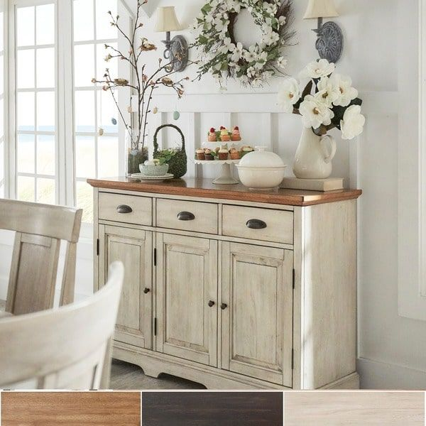 Eleanor Two Tone Wood Cabinet Buffet Server By Inspire Q