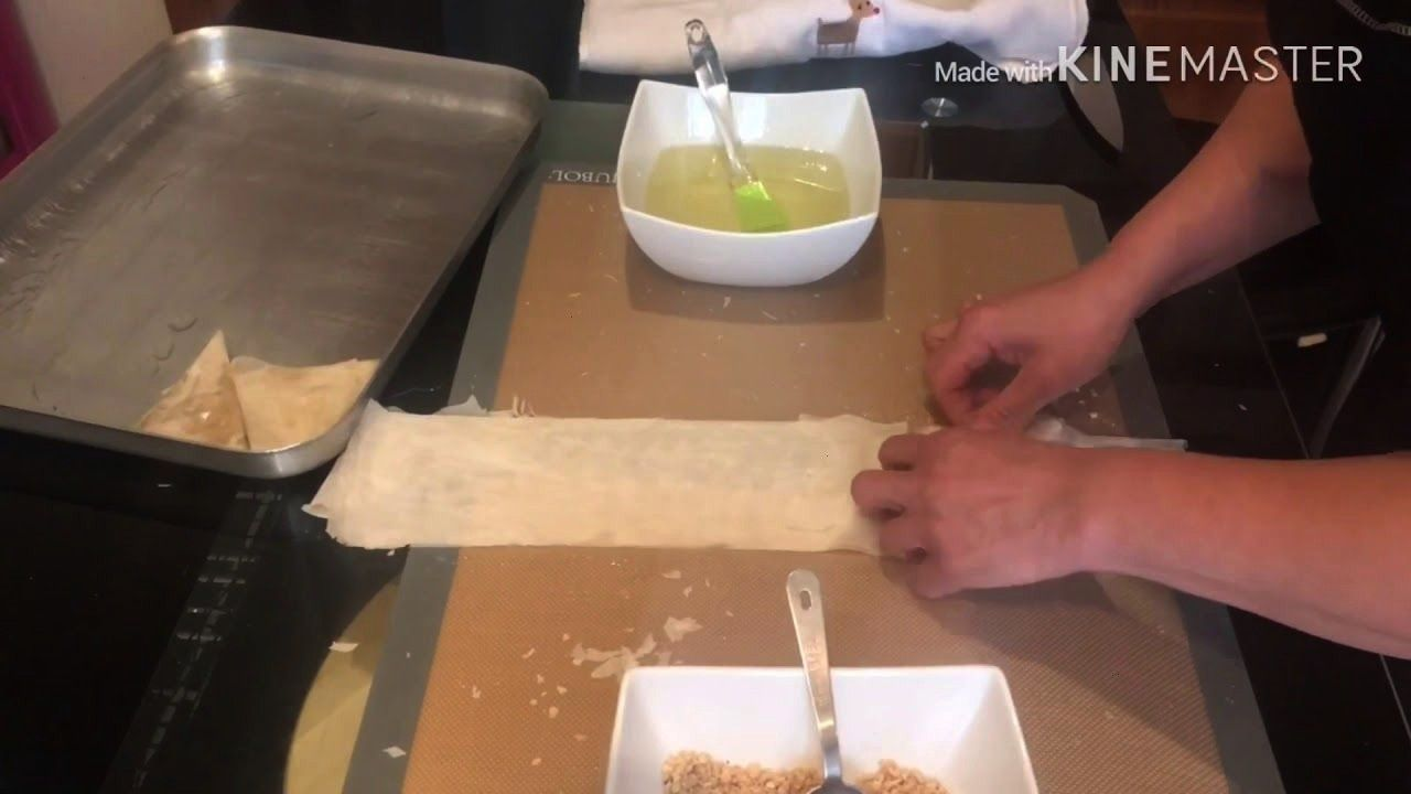 Dreiecke Susses Veganes Baklava Baking Macht Gift Food Wie