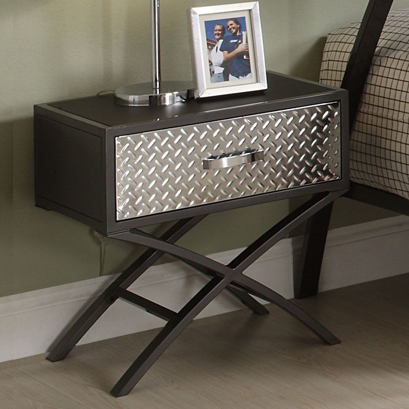 Funky Nightstands carter metal and chrome x-frame end tableinspire qinspire