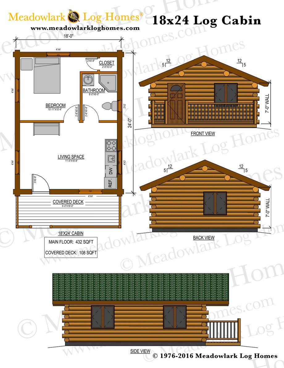 18x24 Log Cabin Meadowlark Log Homes Small Cabin Plans Log Cabin Plans Cabin Floor Plans