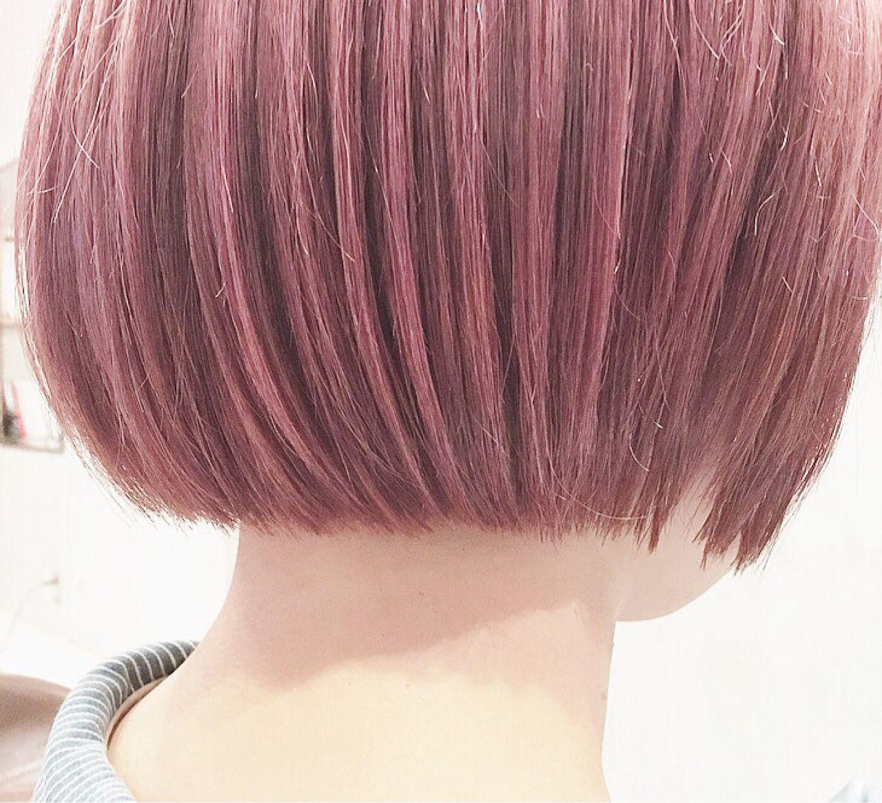 ブリーチ後にピンクバイオレットを ダブルカラーだと発色と透明感が