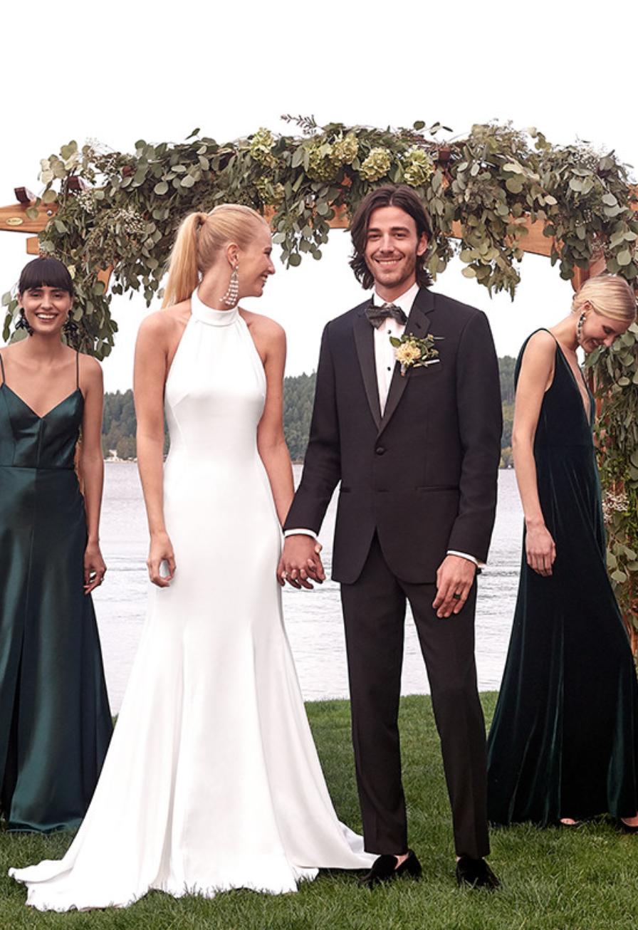 Stella Mccartney F18 Magnolia Halter Wedding Dress Halter