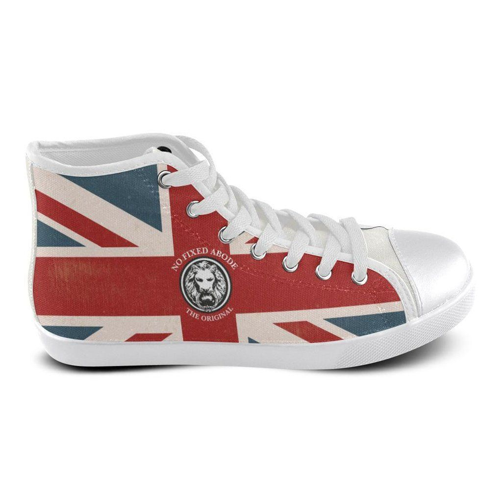Mens Nfa The Original Union Jack White Basketball High Tops Chaussure