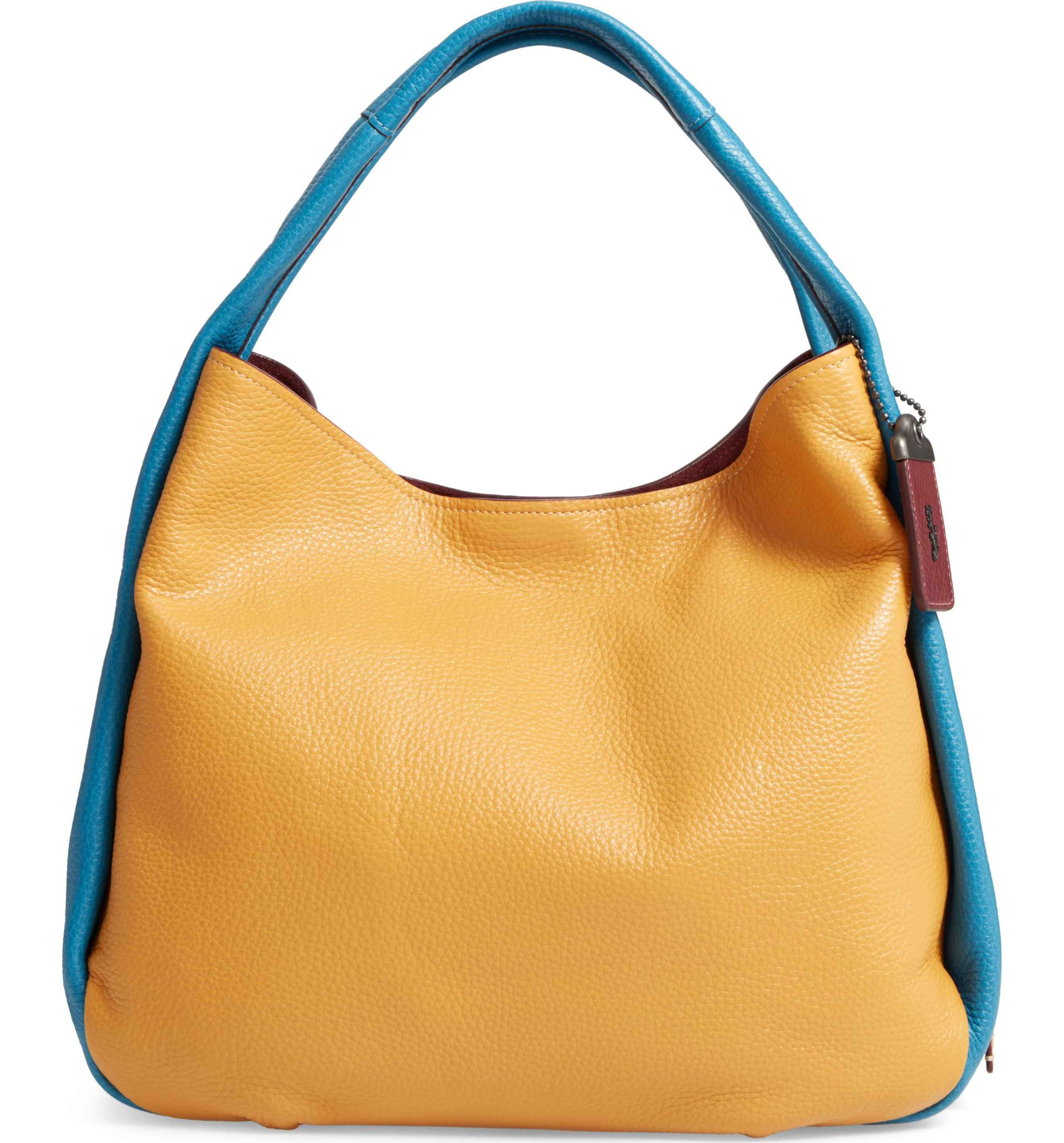 9a7c9a363b64 Main Image - COACH 1941 Colorblock Bandit Leather Hobo Bag