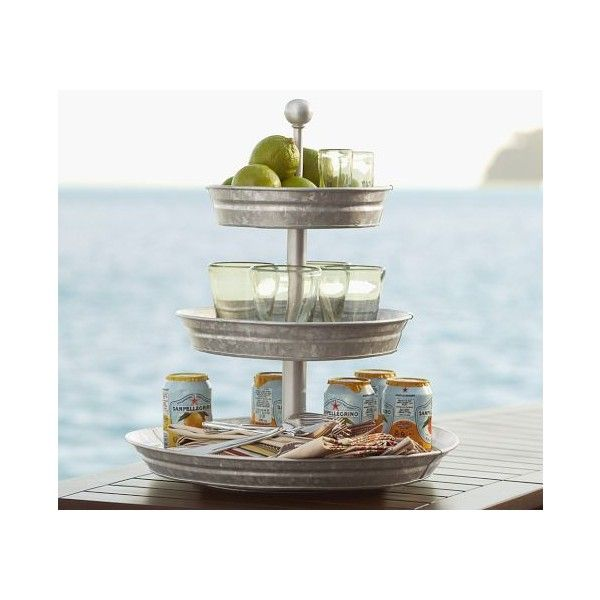 Galvanized Metal 3 Tier Stand 69 Found On Polyvore 3
