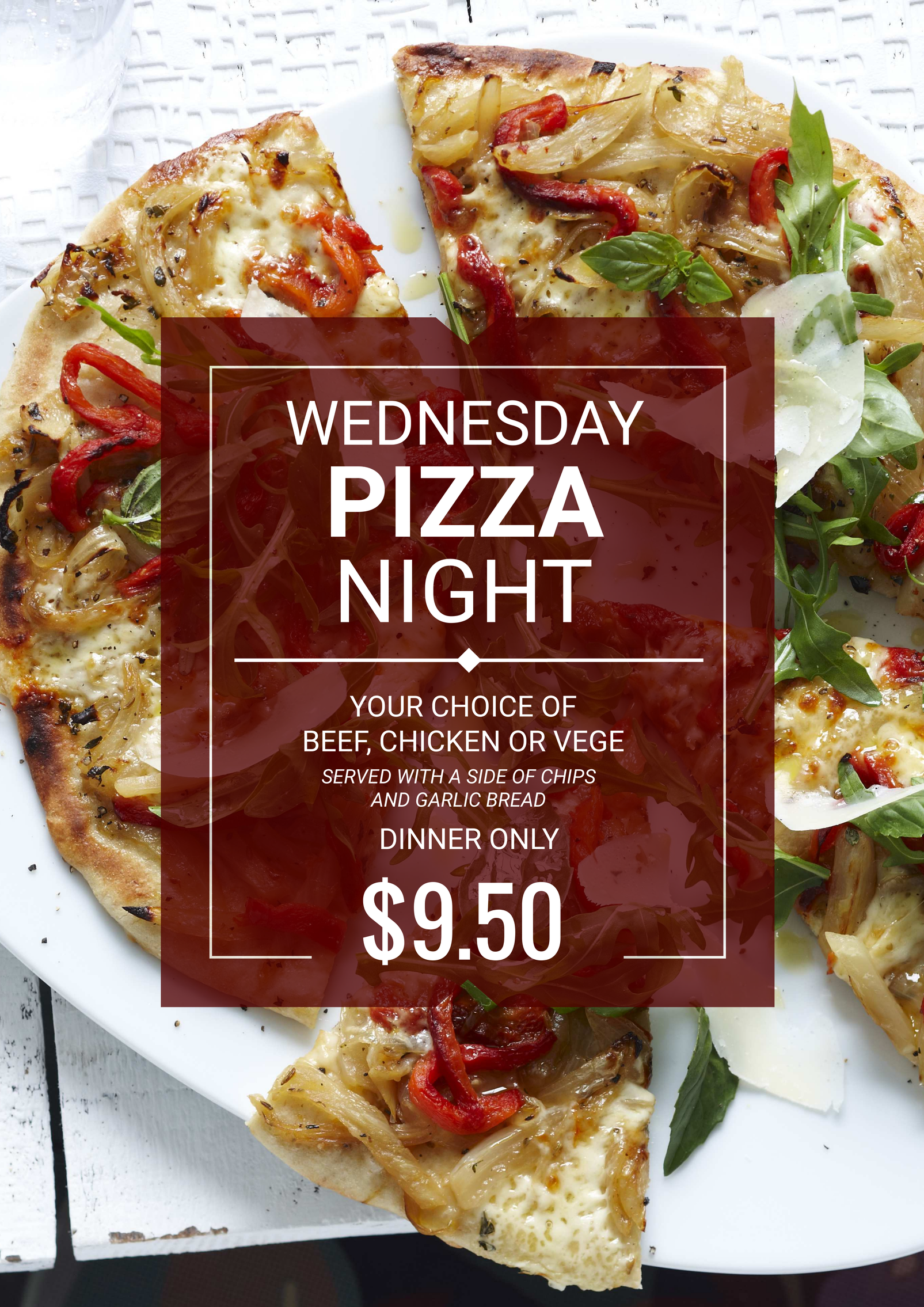 click here to edit this pizza night food promotion design template
