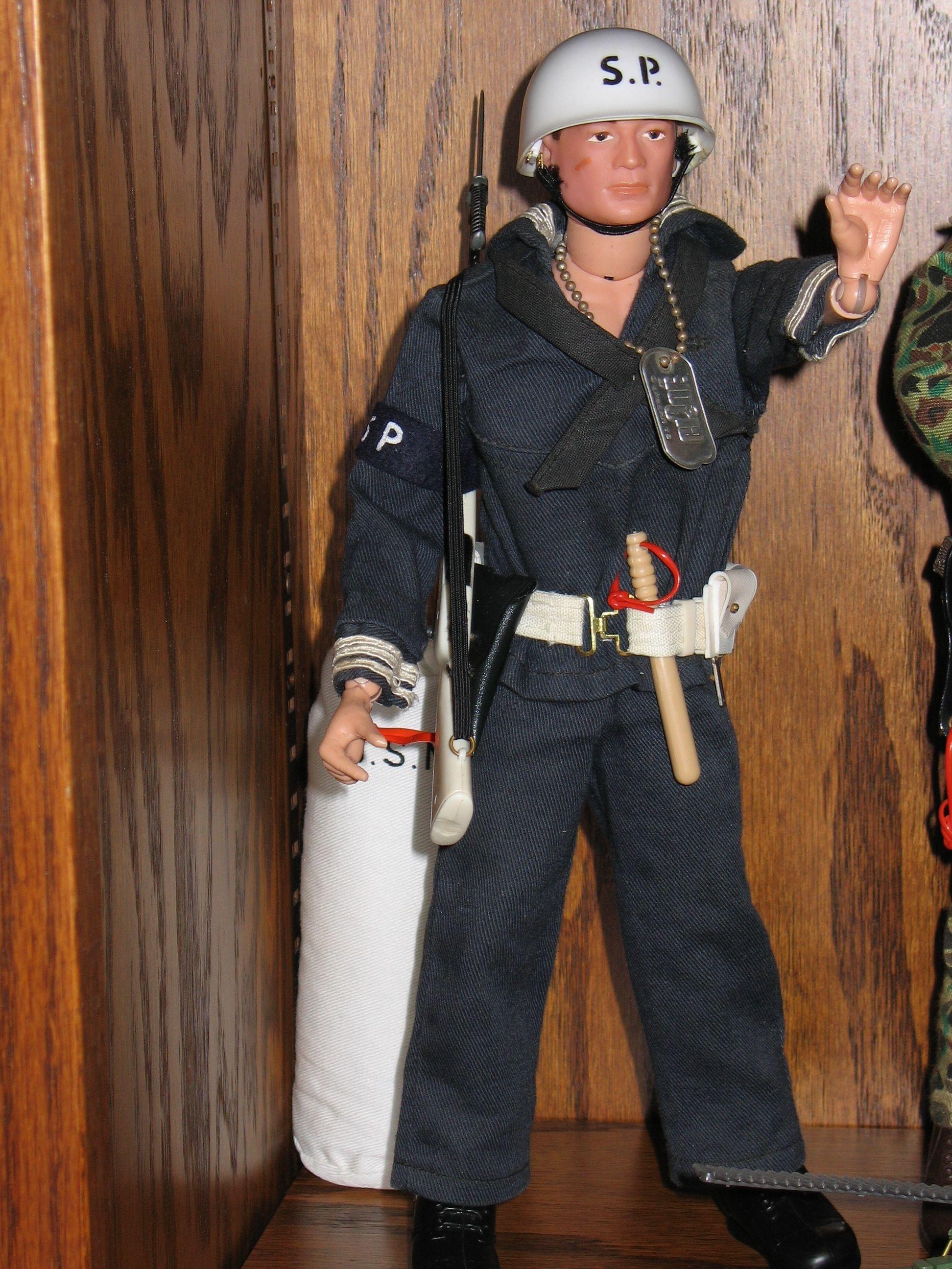 Talking Action Sailor 1//6 GI Joe Timeless RARE DIE CAST SHORE PATROL HELMET