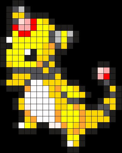 Ampharos Pokemon Bead Pattern Perler Bead Pattern / Bead Sprite