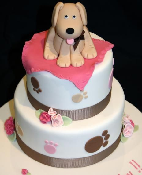 Puppy Birthday Cakes Themed Dog 50th