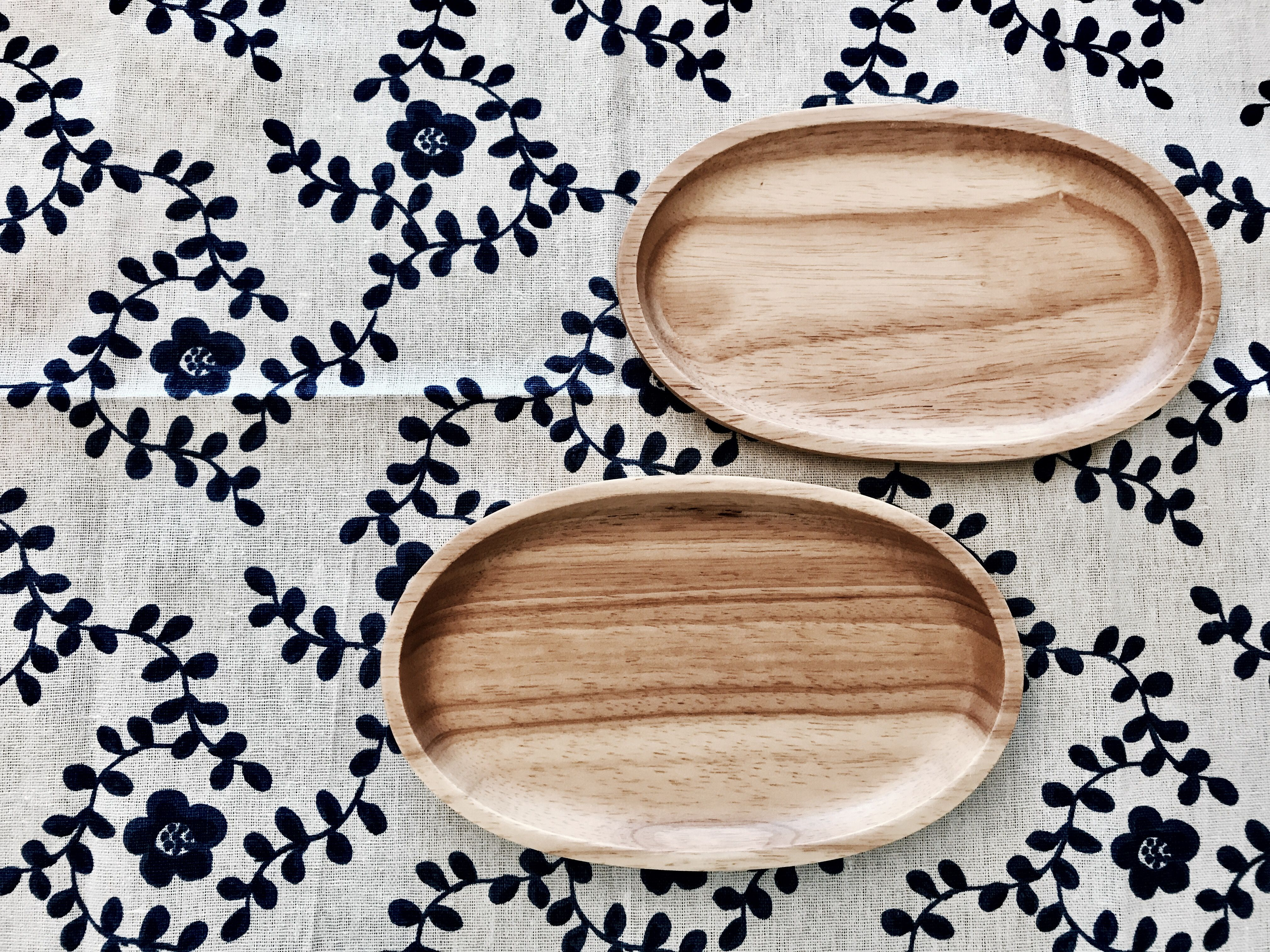 Classic Thai Wooden Snack Plate Tableware Plates Snacks