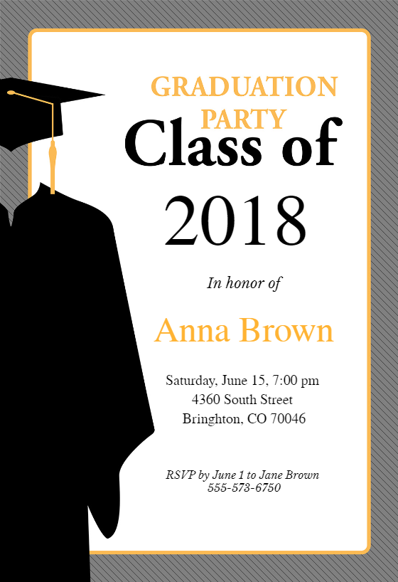 Class Of Graduation Party Invitation Template Free Greetings Island Graduation Invitations Template Graduation Party Invitations Templates Party Invite Template