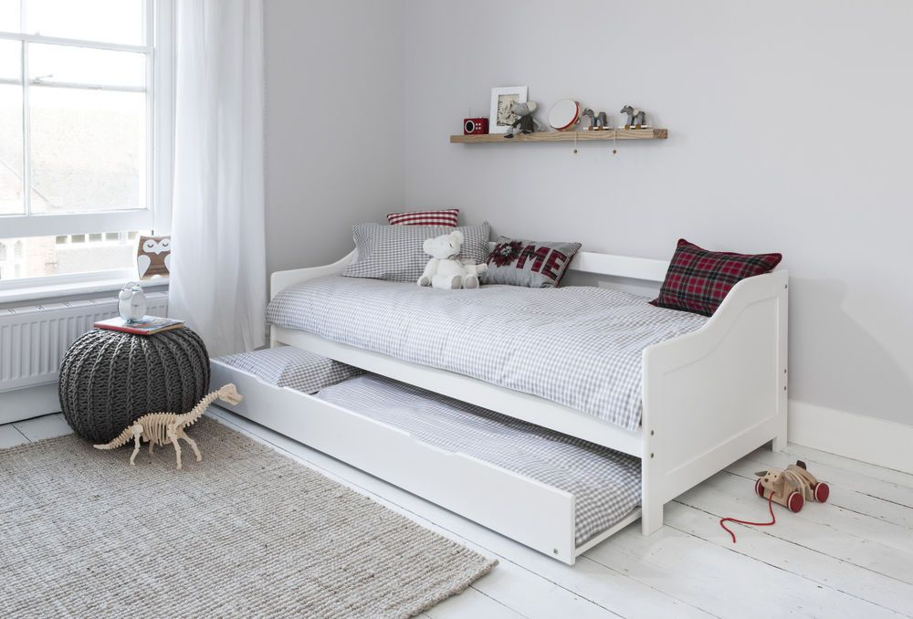 Details About Day Bed Single Bed With Underbed In White 2