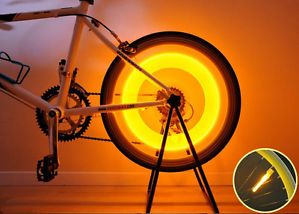 Colorful Bike Bicycle Cycling Spoke Wire Tire Rim Wheel LED Bright Light Lamp BN