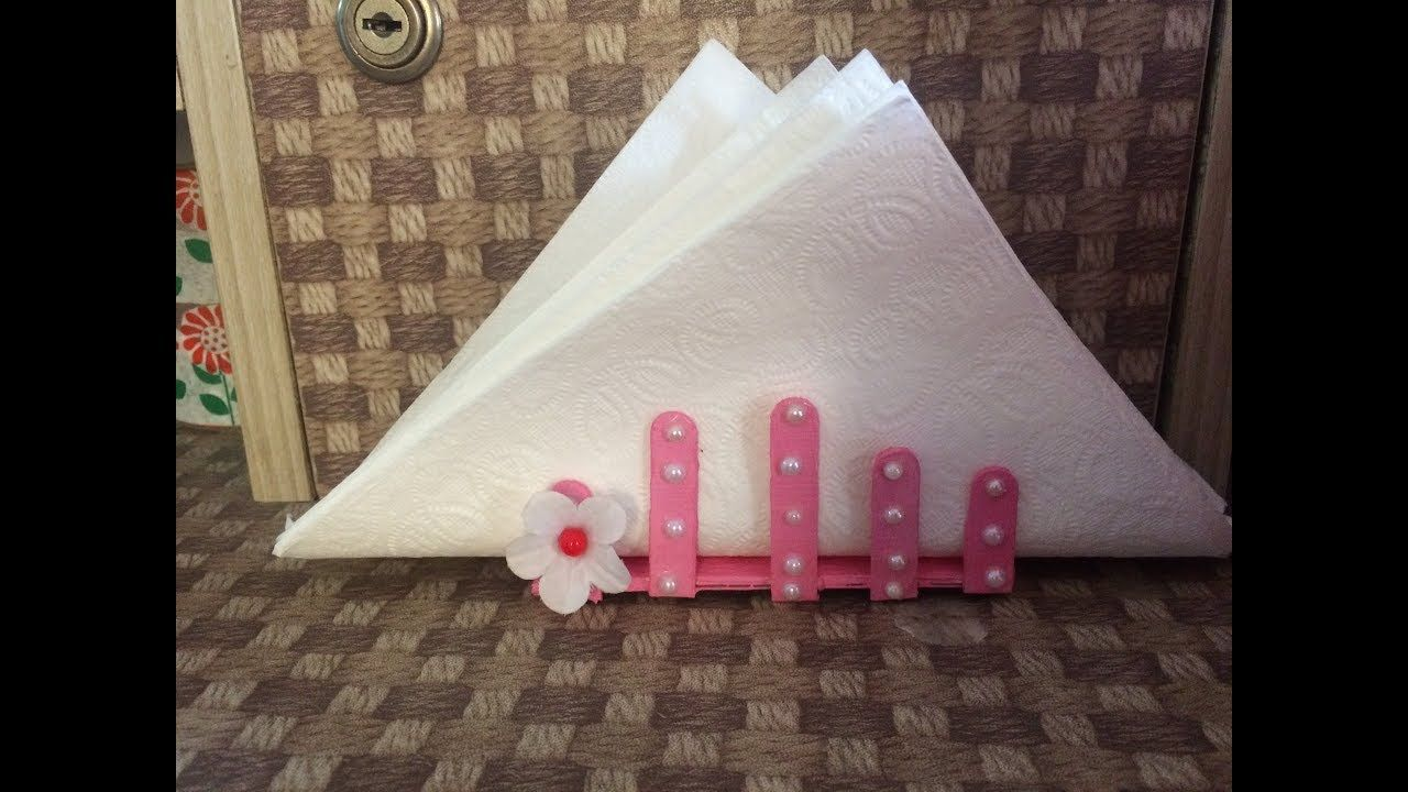 How To Make Tissue Paper Stand Ice Cream Stick Tissue Paper Holder Room Ice Cream Stick Paper Stand Tissue Paper