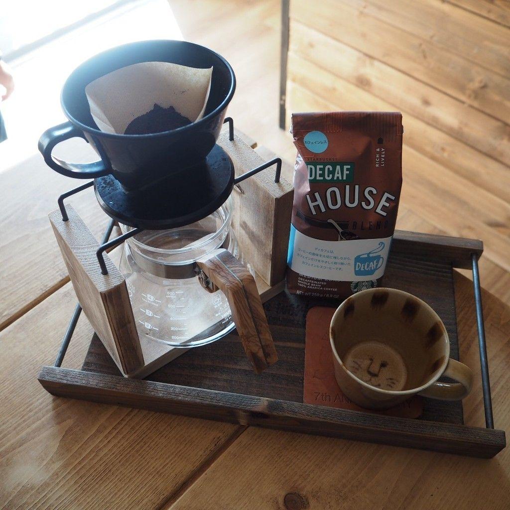 セリア商品で簡単 ウッド アイアンのコーヒードリッパースタンド キャンプコーヒー コーヒースタンド ドリッパースタンド