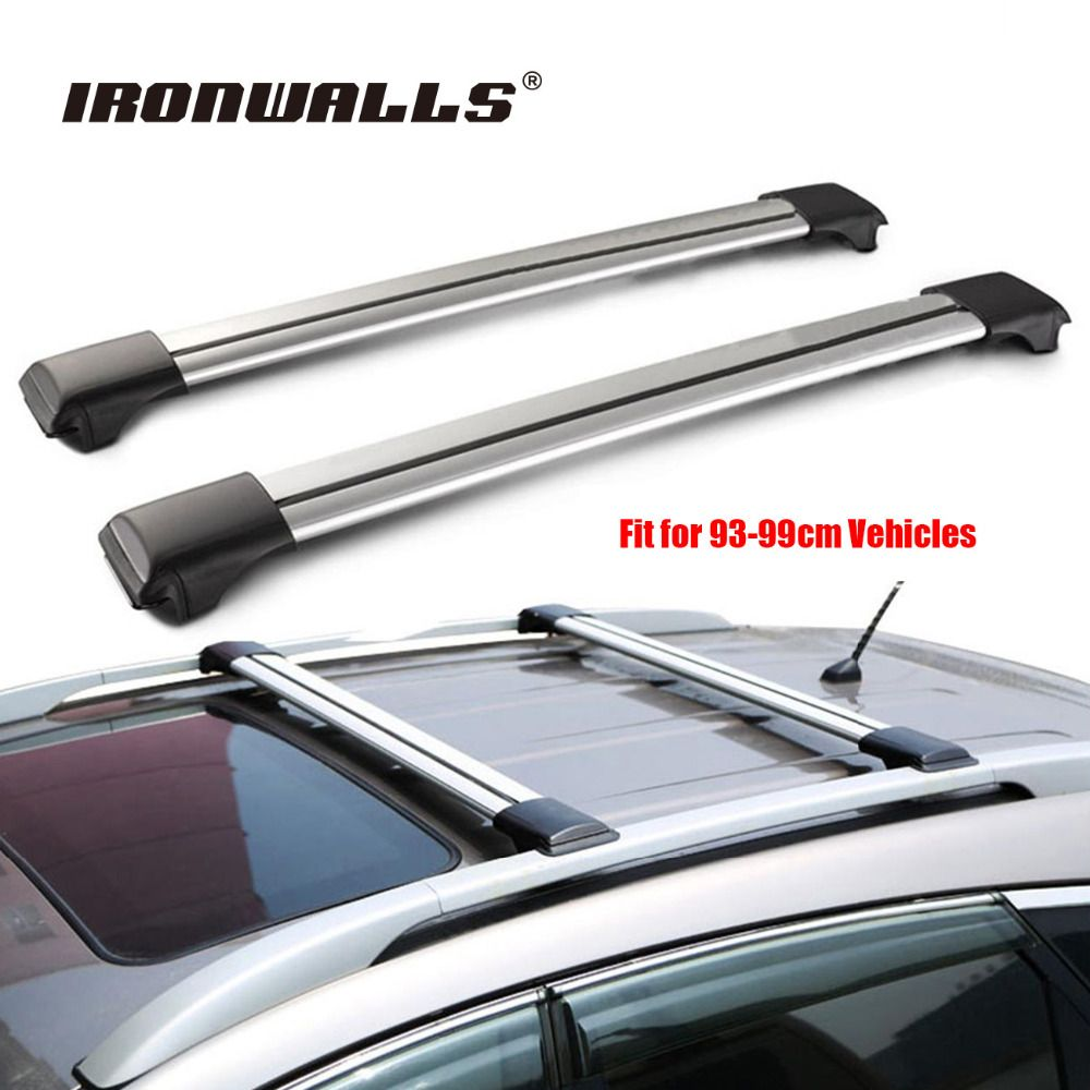 Universal 1x Car Roof Rack Cross Bar 93cm 99cmtop Luggage Cargo