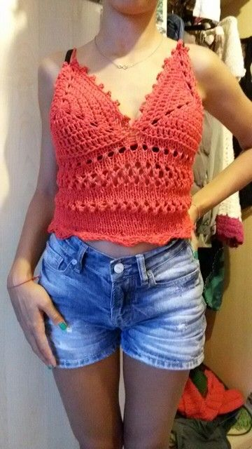 Blusa knit and crochet