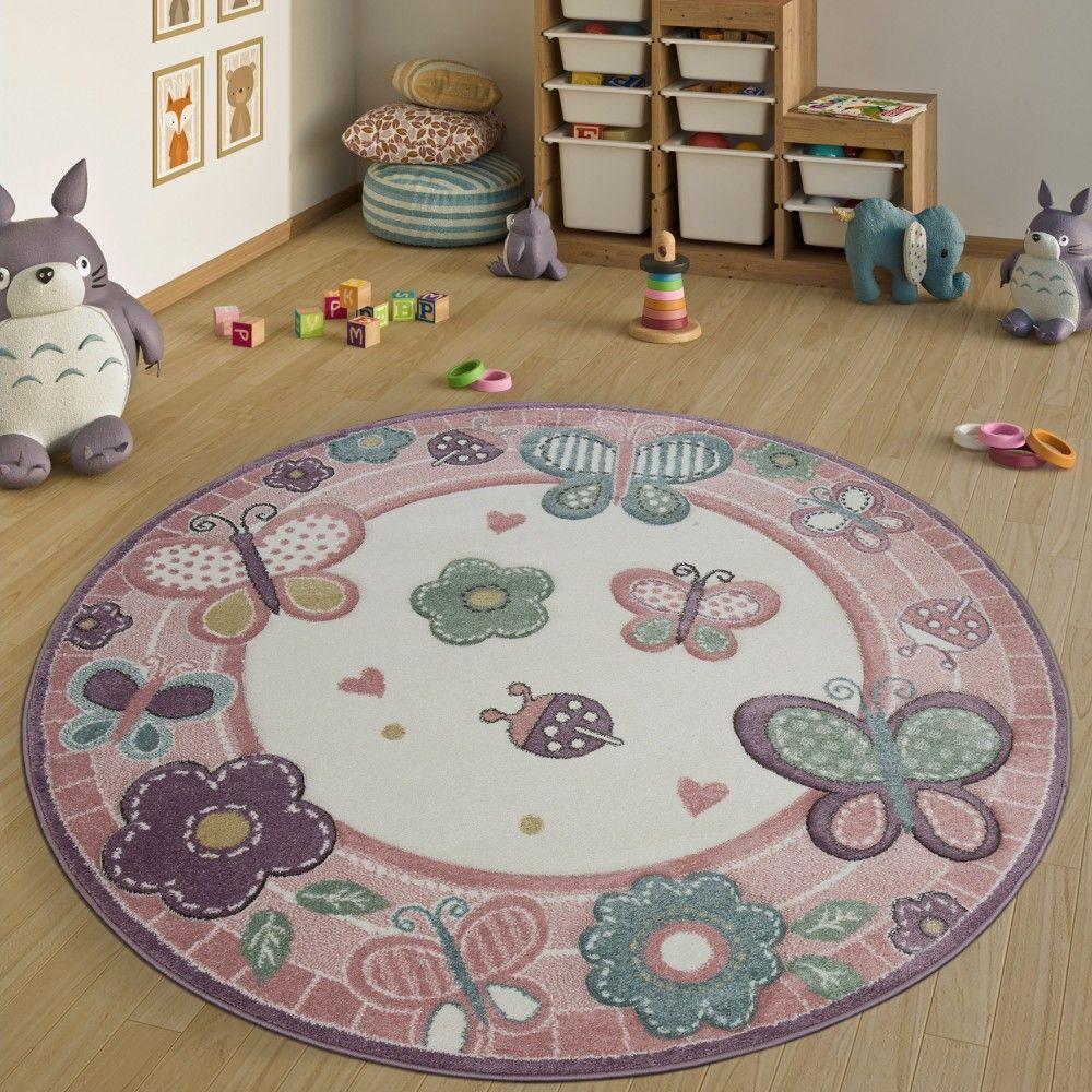 Kinderteppich Rund XXl Rosa Kinderteppiche, Teppich