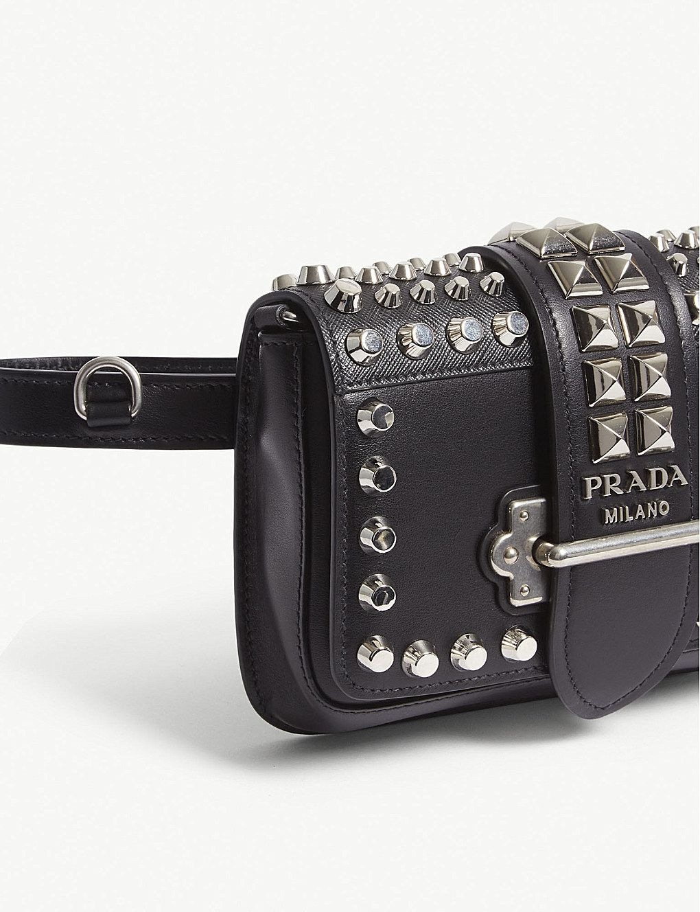 9015b25ad187c6 Prada | Cahier Studded Leather Belt Bag | Handbags & Wallets in 2019 ...