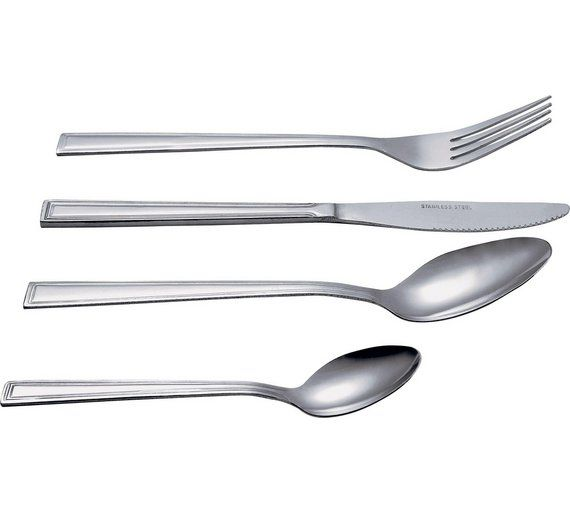 Buy Simple Value Venice 24 Piece Stainless Steel Cutlery Set at ...