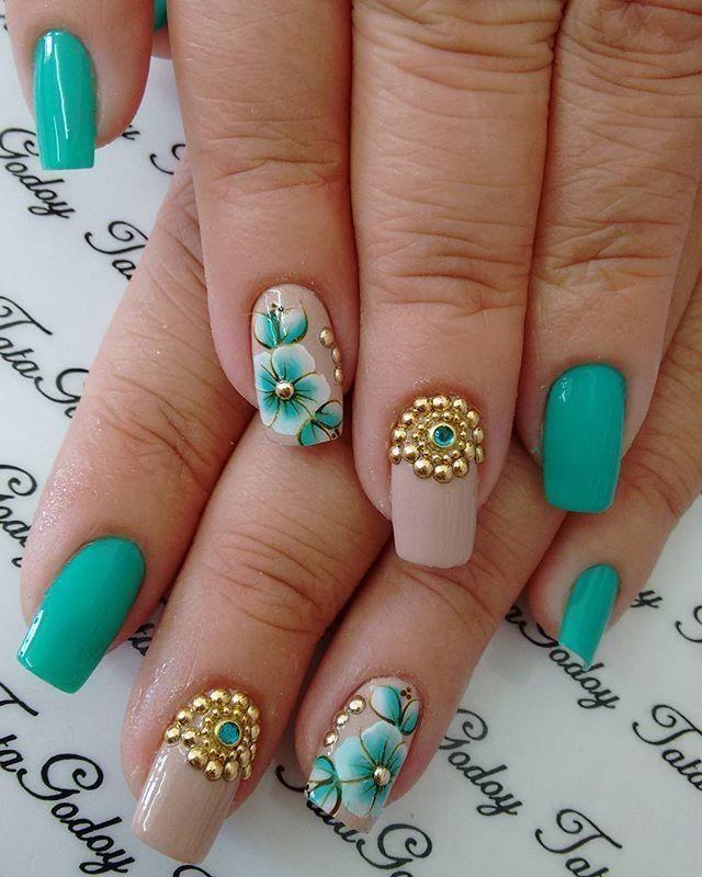 Pin de Carla Samame Dominguez en diseños de uñas | Pinterest ...