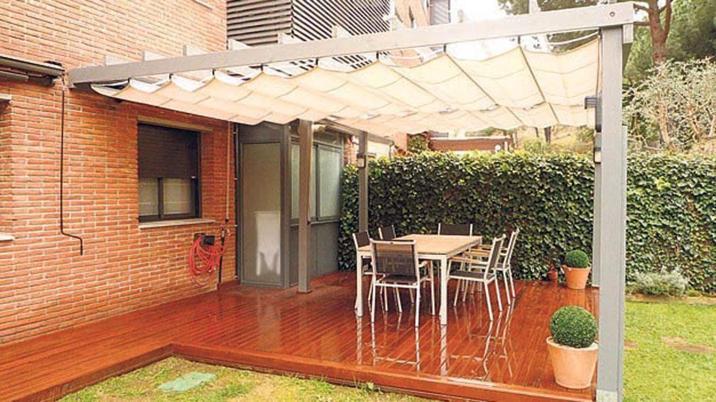 Como hacer un techo de lona buscar con google terraza - Toldos para patios ...