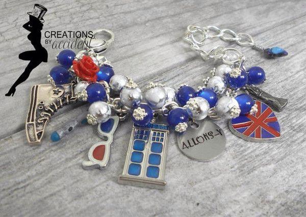 Doctor Who whovian charm bracelet #DoctorWho #charm #bracelet #jewelry