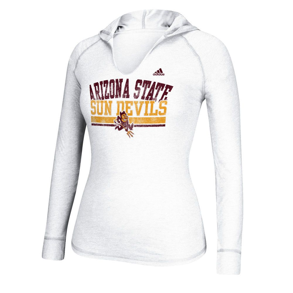 Arizona State Sun Devils adidas Women's Collegiate Weathering Hooded Long  Sleeve T-Shirt - White