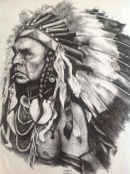 Native american pencil drawings native american indian chief
