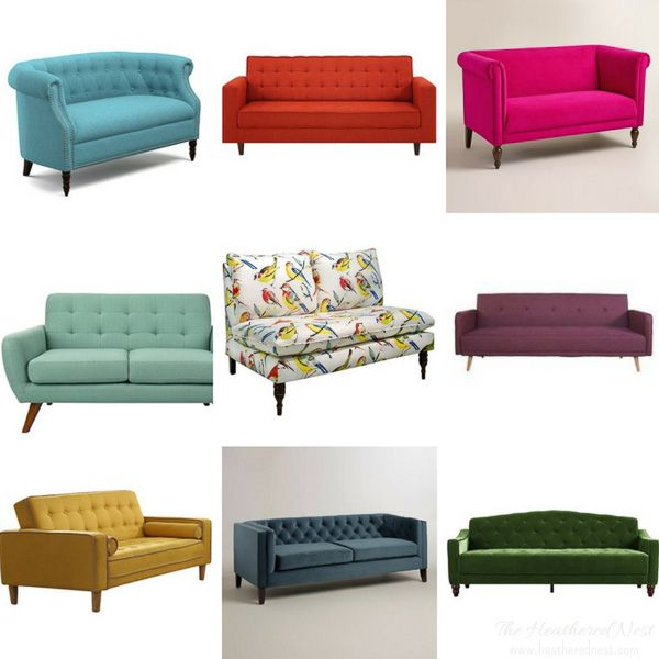 Where To Find Colorful Affordable Sofas And Loveseats