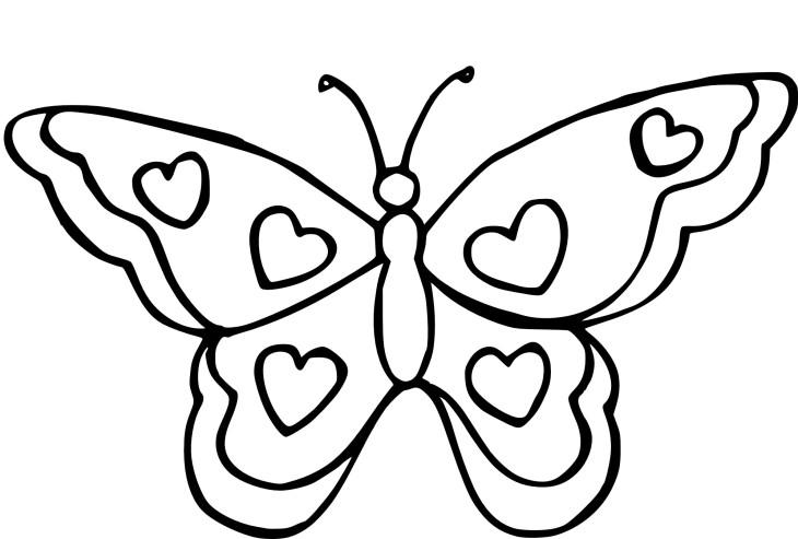 Coloriage Papillon Coeur A Imprimer Coloriage Papillon Coloriage Papillon A Imprimer Coloriage