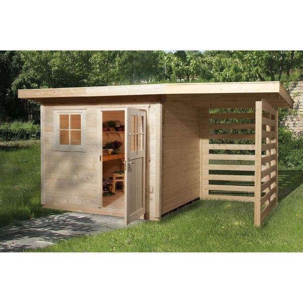 Abri jardin bois schongau 2 28 mm cabane pinterest for Cabane en bois moderne