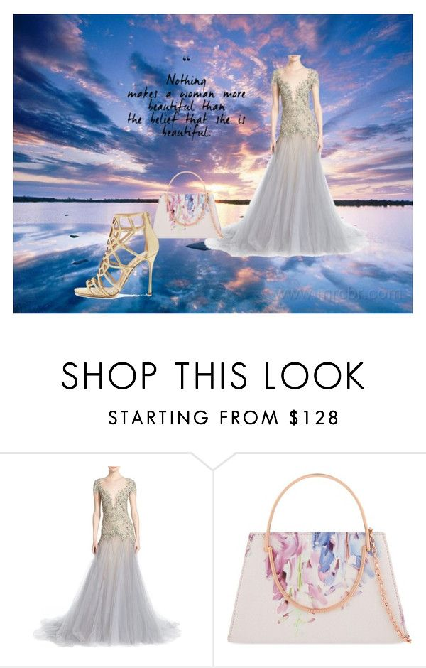 """""""Dream set"""" by bipolarstar on Polyvore featuring Marchesa, Ted Baker and Sergio Rossi"""