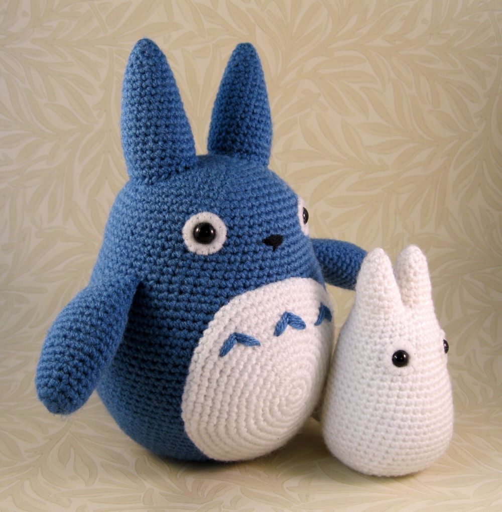 Lucyravenscar crochet creatures all the totoros crochet pdf patterns attached crochet a few years back i made a blue and a white totoro and wrote up the patterns on my livejournal white totoro blue totoro bankloansurffo Images