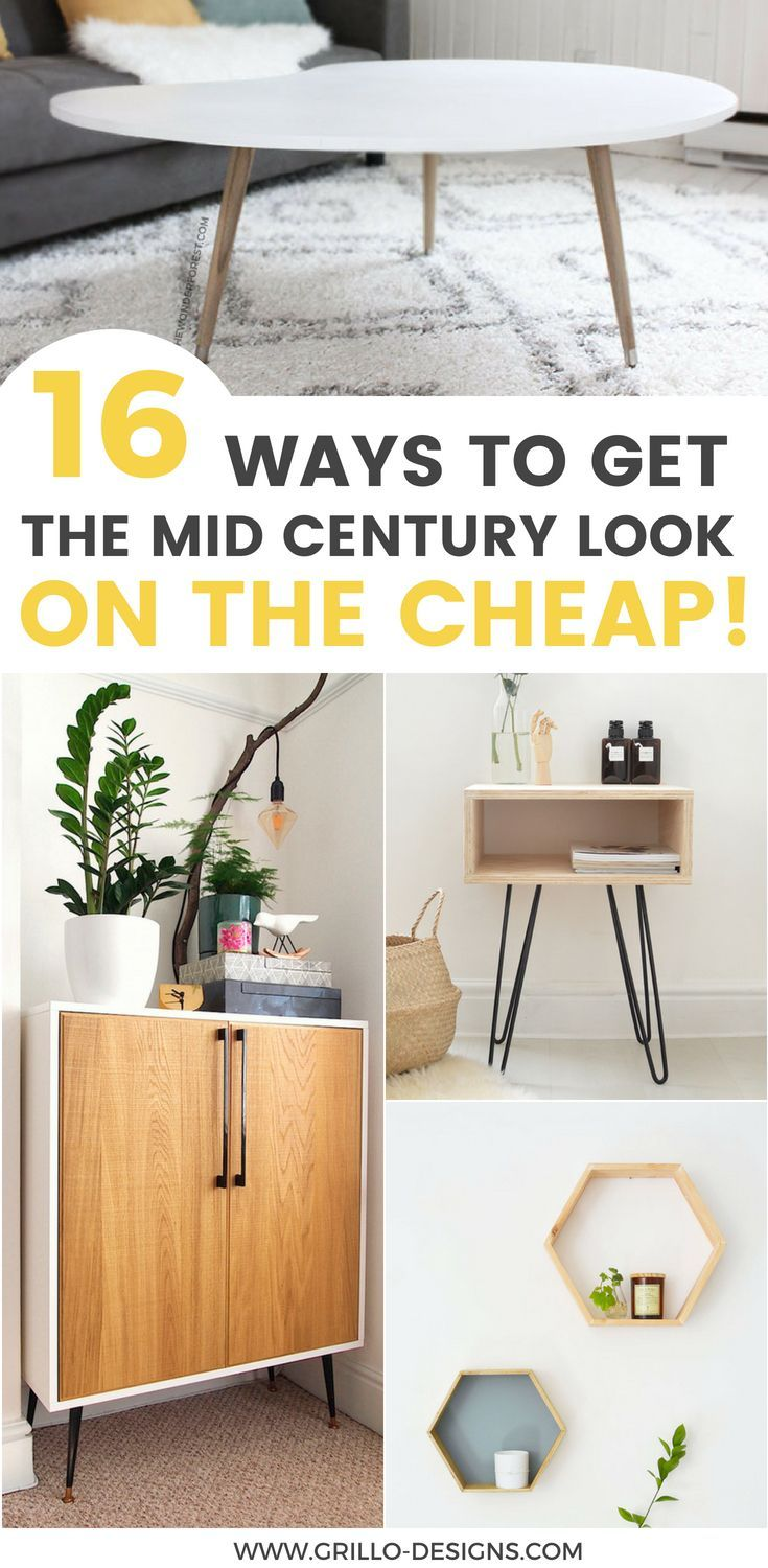 16 Affordable DIY Mid-Century Furniture Ideas That Will Inspire You • Grillo Designs
