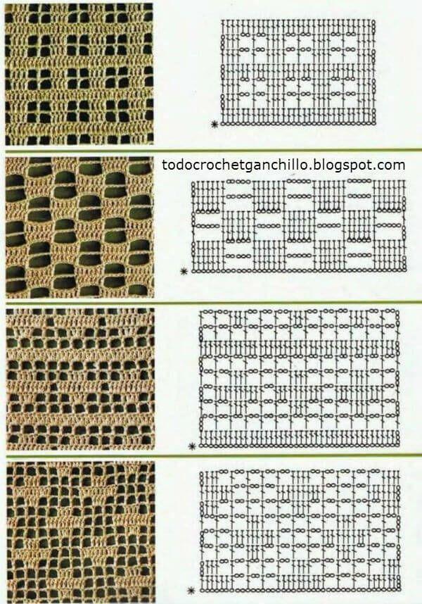 Crochet filet patterns | Ganchillo | Pinterest | Ganchillo, Puntadas ...