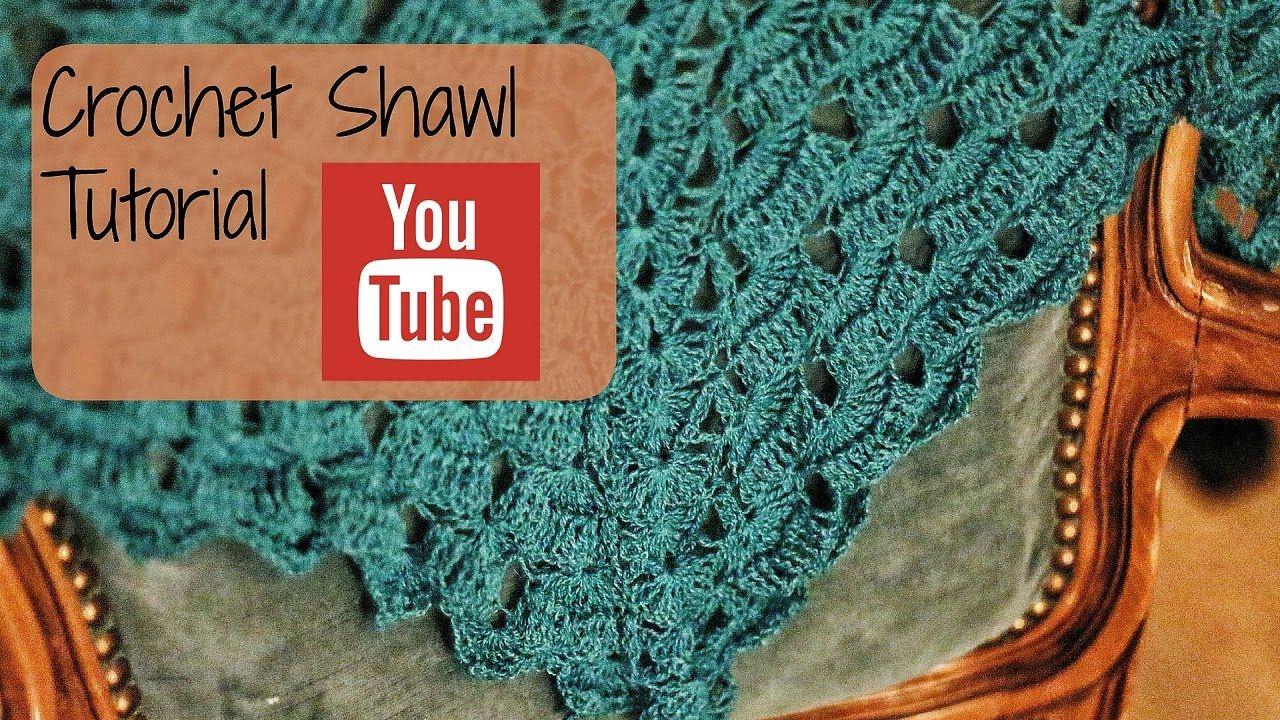 How to - Crochet shawl tutorial (Row 1-5) - YouTube