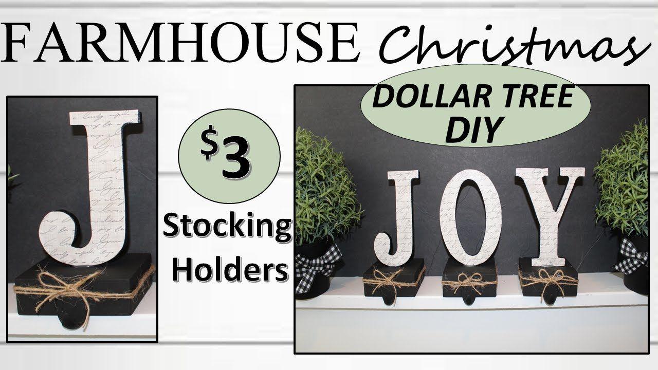DIY DOLLAR TREE CHRISTMAS DECOR (2019) Stocking Holders