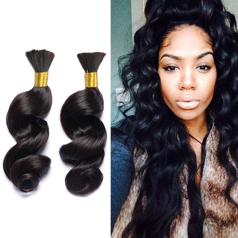 3pcslot Malaysian Loose Wave Human Braiding Hair Bulk Loose Curly