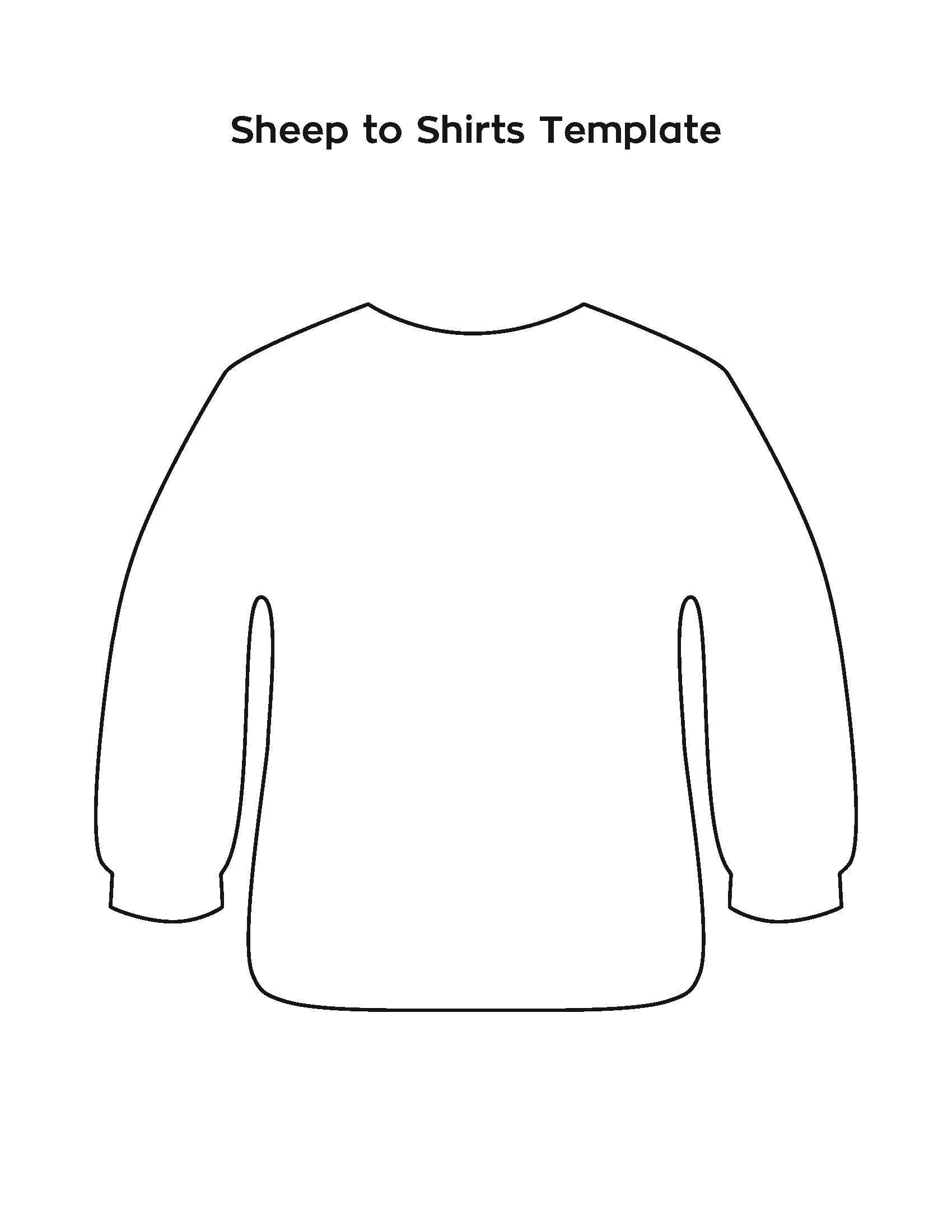 Sheep To Shirts Template