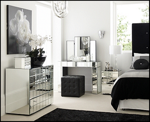 bedroom with contemporary mirrored furniture - Google Search | Our ...
