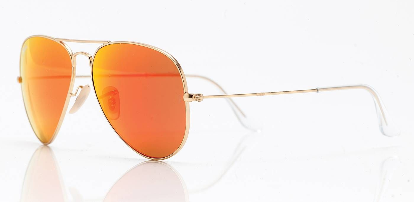 Ray Ban sunglasses Aviator in gold mirror orange <3
