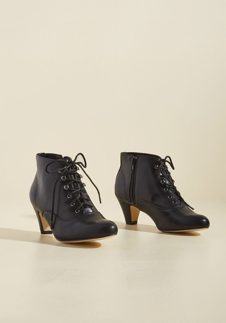 966c9db24f Chelsea Crew Familiar Thrill Bootie in Licorice in 37 - Low Heel - Over 1 -2  by Chelsea Crew from ModCloth