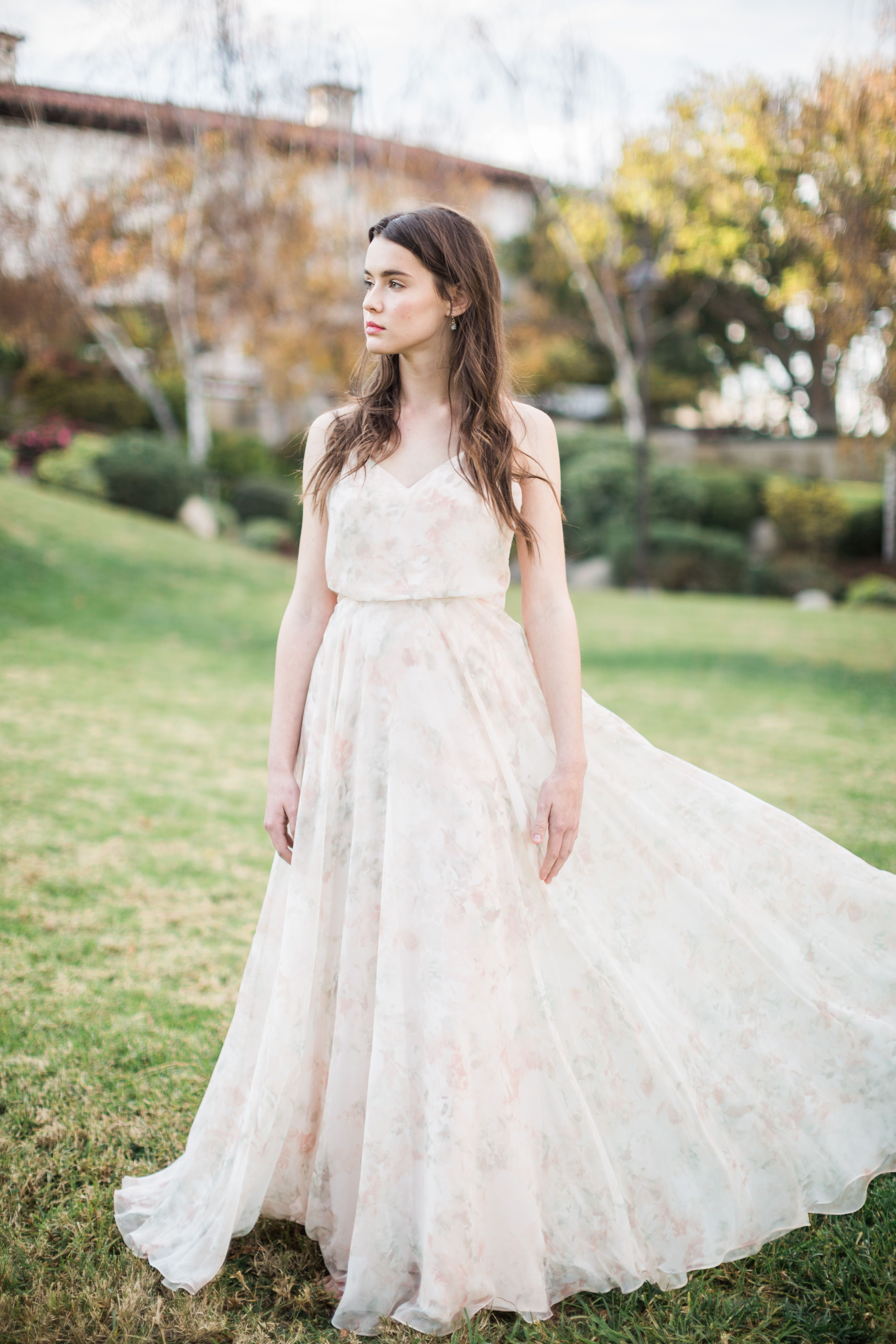 Inesse Dress in Blush Watercolor Print by Jenny Yoo  dbc5bdcc94afe