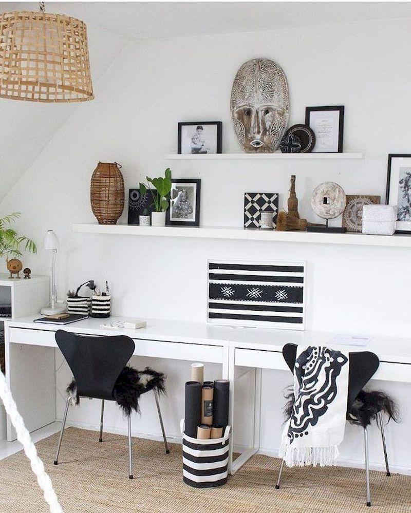 34 Cozy Monochrome Home Office Decor Ideas In 2019